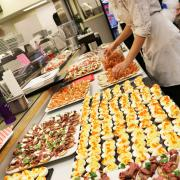 In the kitchen, the Selkirk College Food Services team were on their game as they prepared the amazing array of choices that were offered at the Through The Decades Gala on Saturday night at the Castlegar Campus.