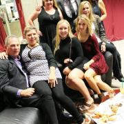 Selkirk College Athletics & Recreation Coordinator Kim Verigin (back middle) and his family were in the festive spirit.