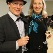 David Feldman (Selkirk College Dean) and his partner Carla Wilson take part in the celebration.