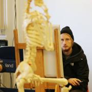First year DA students study human/animal proportions in an Art Fundamentals class.