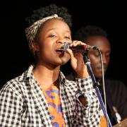 Students from the Nyundo School of Art & Music were featured in the second half of the first set.