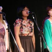 Selkirk College students during the first number. — with Zayda Marley, Sallie Salcedo and Jane Love