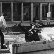 Orientation day 1972, fountain intitiation.