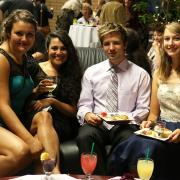 Rural Pre Medicine at Selkirk College students enjoy a night out and a break from the books.