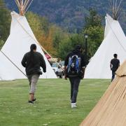 While at the regional youth conference, guests stayed in tipis on site at the Mir Centre.
